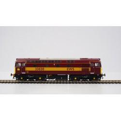 Class 33 33030 EWS Red/Gold