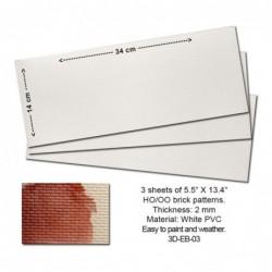 Embossed PVC Sheets (Brick...