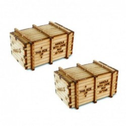 2 X Big Machineary Crates