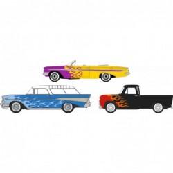 3 Piece Set Chevrolet Hot Rods