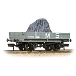3 Plank Wagon LMS Grey [WL]...