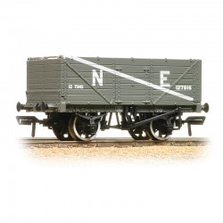 7 Plank End Door Wagon NE Grey